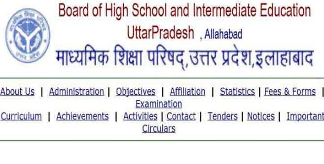UP Board 12th Class Time Table 2015
